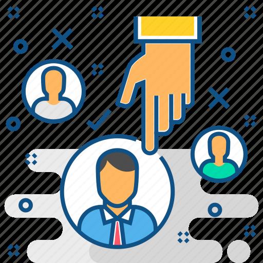 employee, employer, hire, hr, human resource, recruitment icon