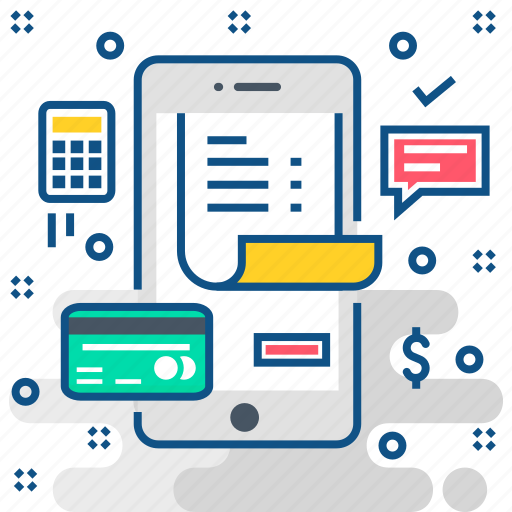 bill, card, checkout, invoice, pay, payment icon