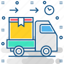 business, courier, delivery, transport, transportation, truck, van icon