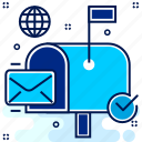 email, letter, post, postbox, send, support icon
