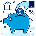 funds, investment, save, saving, savings icon