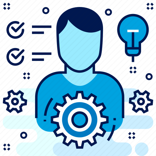 employee, idea, work icon