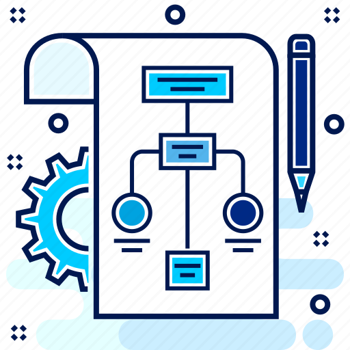 Business  Diagram  Flow  Process  Work Icon