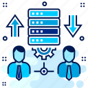 cloud, database, management, server, user icon
