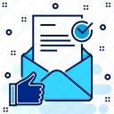 inbox, letter, mail, post icon