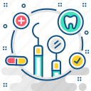 dental, dentist, equipment, teeth, tooth icon