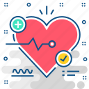 ecg, healthcare, heart, heart care, medical, test icon