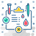 blood, test, laboratory, report, sample, tube icon
