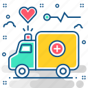 ambulance, emergency, hospital, medical, transport, van, vehicle icon