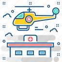 air, air peramedic, ambulance, emergency, transport icon