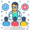 doctor, healthcare, male doctor, medical, patient, stethoscope icon