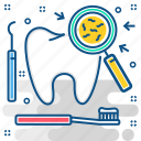 dental, dentistry, germs, teeth, tooth, toothbrush icon