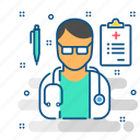 care, clinic, doctor, hospital, medical, stethoscope, treatment icon