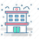 building, clinic, healthcare, hospital, trauma center icon