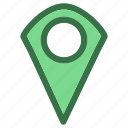 camp, gps, location, pin, popular icon