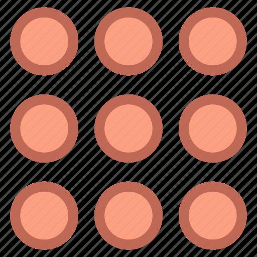 call, grid, popular icon