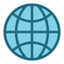 earth, globe, popular, wolrd icon