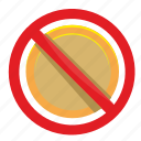 cancel, coin, false, money, pay icon
