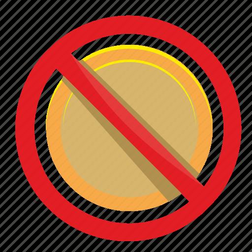 cancel, coin, false, money, pay icon