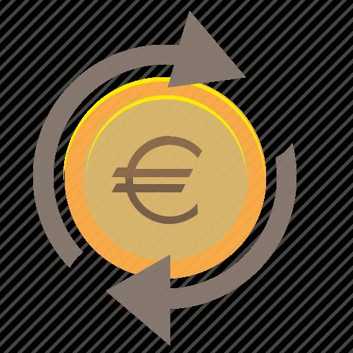 change, coin, euro, money, transfer icon