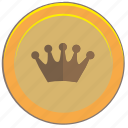 coin, king, money, nominal, pay icon