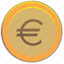 coin, euro, gold, money, pay icon