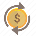change, dollar, money, transfer, usd icon
