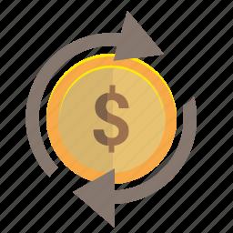 change, dollar, money, transfer, usd icon