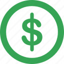 business, coin, dollar, round icon