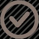 check, checkmark, ok, round icon