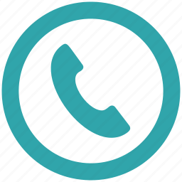control, dial, mobile, phone, round icon