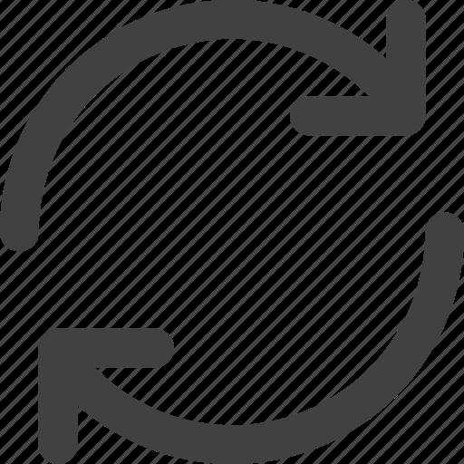 arrow, ios, sync, synchronization, ui, web icon