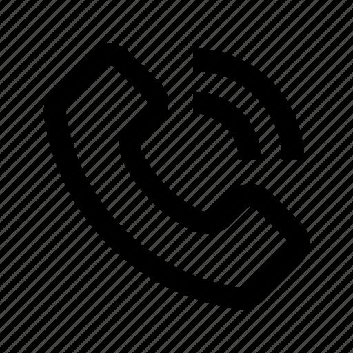 call, interface, phone, popular, ui, user, web icon