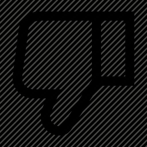 dislike, interface, popular, thumb down, ui, user, web icon
