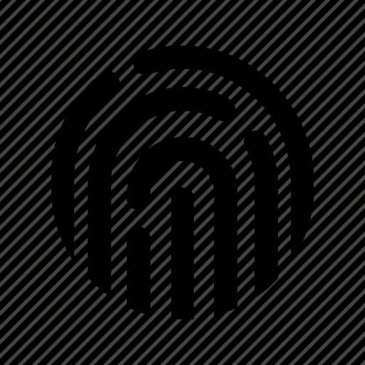 finger print, interface, popular, ui, user, web icon