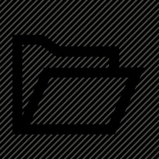 interface, open folder, popular, ui, user, web icon