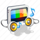 ringtones, tv, video icon