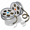 movie, old film, video icon