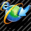 internet, visit icon