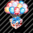 balloons, gift, present icon