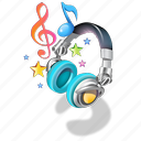 headphones, music, ringtones icon