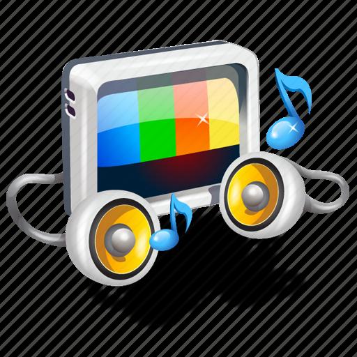 ringtones, tv, video icon