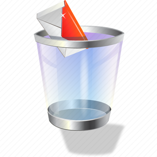 garbage, recycle bin, spam icon