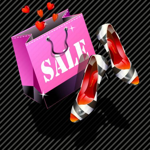 eshop, sale, shoes icon