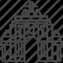 arch, architecture, commerce square, lisbon, portugal, portuguese, triumph icon