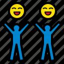 cheerful, happy, laugh, merry, optimistic icon
