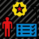 checklist, meditative, plan, thinking, thoughtful icon