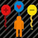 attitude, balloon, float, opinion, viewpoint icon
