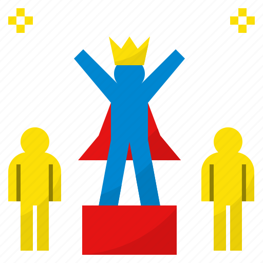 brave, competition, courageous, king, winner icon