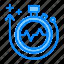 arrow, health, increasing, live, span, up icon